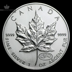 1999-2000 Kanada 1 oz Sølv Maple Leaf Millennium Privy