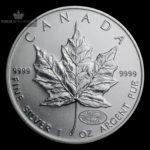 2000 Kanada 1 oz Sølv Maple Leaf Millennium Privy