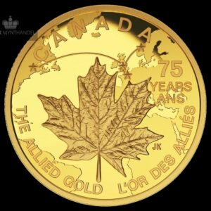 "2015 Kanada 1/4 oz Gullmynt ""The Allied Gold"" Proof"