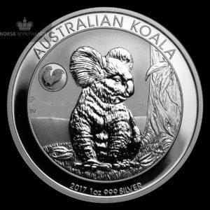 "2017 Australia 1 oz Sølv Koala ""Lunar Rooster Privy"""
