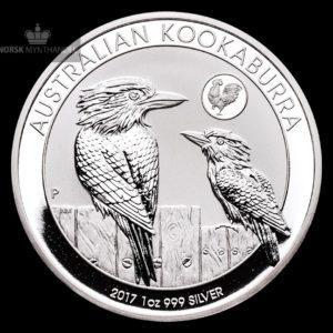 2017 Australia 1 oz Sølv Kookaburra Lunar Rooster Privy