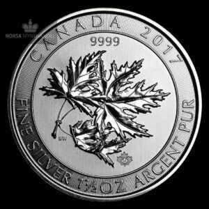 2017 Kanada 1.5 oz Sølv Maple SuperLeaf