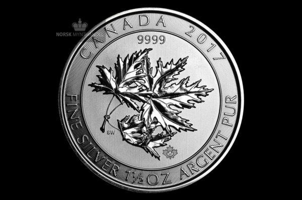 2017 Kanada 1.5 oz Sølv Maple SuperLeaf