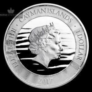 "2017 Caymanøyene 1 oz Sølvmynt ""Marlin"""