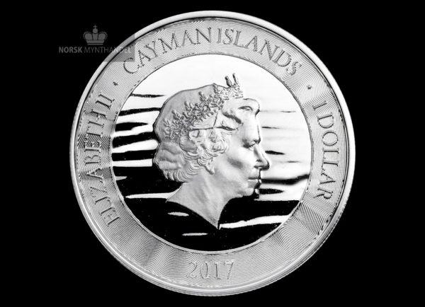 2017 Caymanøyene 1 oz Sølvmynt