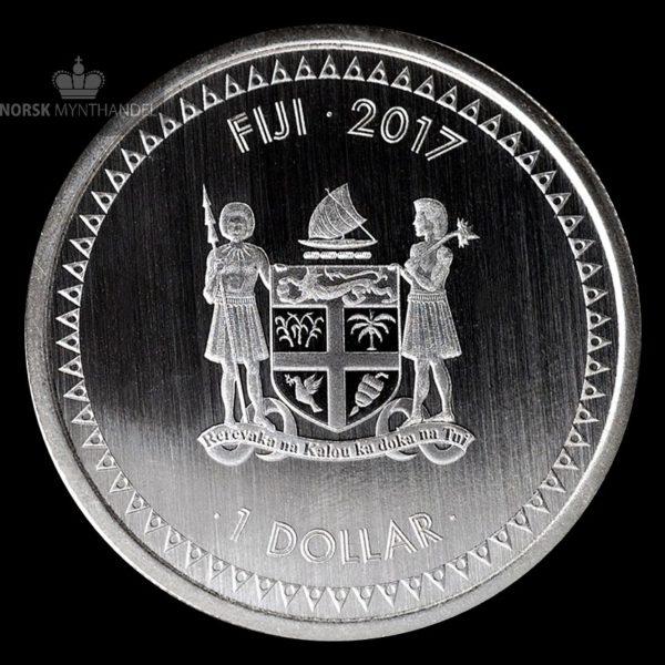 2017 Fiji 1 oz Sølvmynt