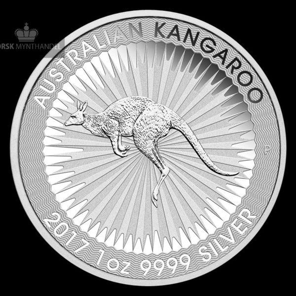 2017 Australia 1 oz Sølv Kangaroo BU