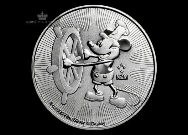 2017 Niue 1 oz Sølvmynt Disney Steamboat Willie BU