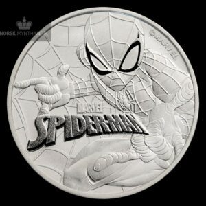 2017 Tuvalu 1 oz Sølvmynt Marvel Series SPIDERMAN™ BU