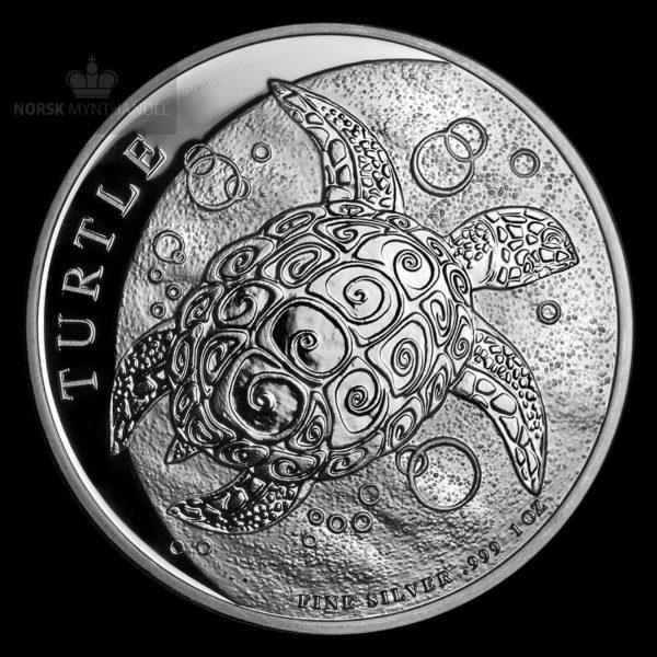 2018 Niue 1 oz Sølvmynt Hawksbill Turtle BU