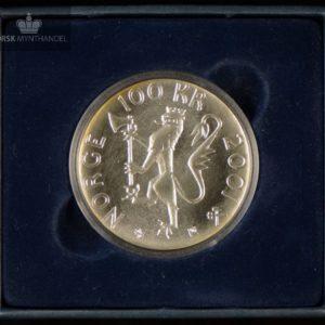 2001 100 Kroner Nobels fredspris 100 år