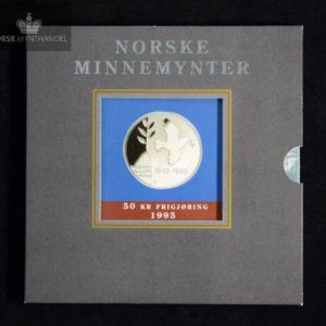1995 50 kroner Frigjøringen i Pappetui