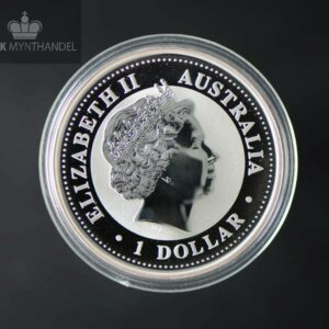 "2000 Australia 1 oz Sølv Lunar ""Year of the Dragon"" BU"