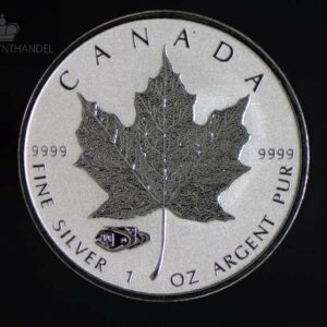 2016 Kanada 1 oz Sølv Maple Leaf Mark V Tank Privy