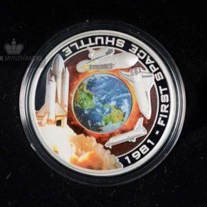 "2010 1 oz Sølvmynt Orbit & Beyond ""First Space Shuttle"""