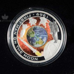 "2009 1 oz Sølvmynt Orbit & Beyond ""First Man On The Moon"""