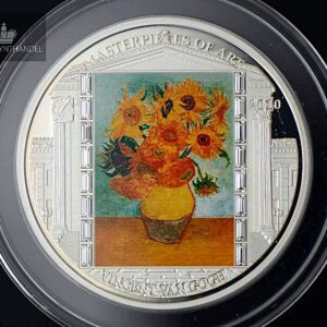 "2010 Masterpieces of Art 3 oz Sølv ""Sunflowers"""