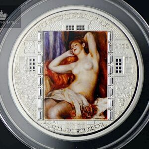 "2012 Masterpieces of Art 3 oz Sølv ""The Sleeping Bather"""