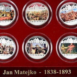 """2009 Jan Matejko 1838-1893 """"Eksklusivt Sølvsett"""""""