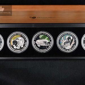 """2010 Australia 1$ Sølvmyntsett """"Discover Australia"""""""