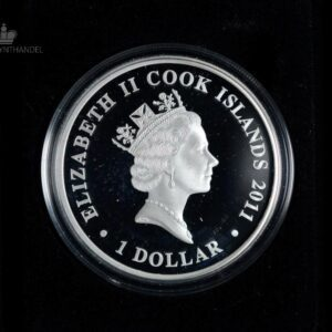 "2011 Cook Islands 1 oz Sølv ""Famous Naval Battles - Midway"""
