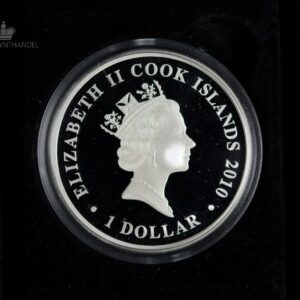 "2010 Cook Islands 1 oz Sølv ""Famous Naval Battles - Salamis"""