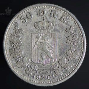 1901 50 Øre God Kv 1