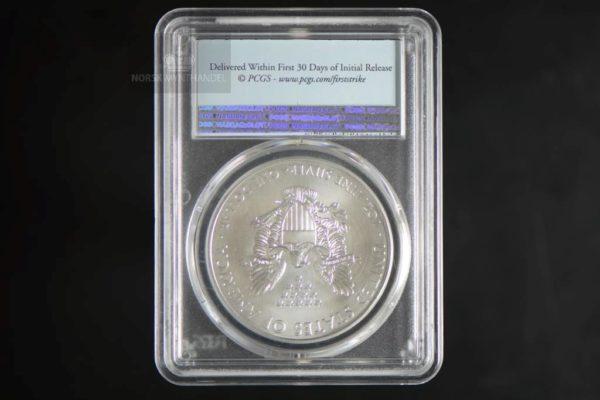2017 Silver American Eagle 1 oz Sølv PCGS MS70