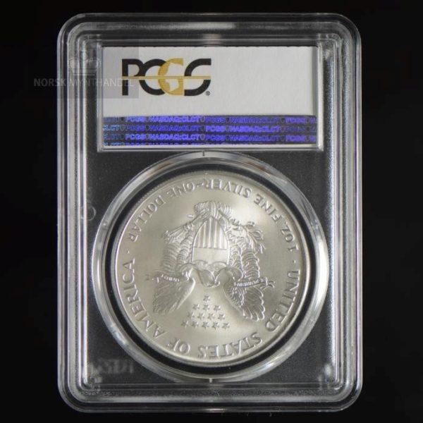 2000 Silver American Eagle 1 oz Sølv PCGS MS69