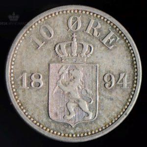 1894 10 Øre Kv 1+