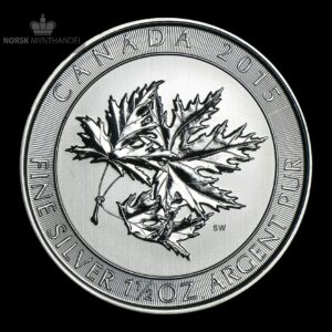 2015 Kanada 1.5 oz Sølv Maple SuperLeaf