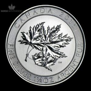 2015 Kanada 1.5 oz Sølv Maple SuperLeaf