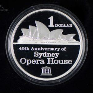 2013 Sydney Opera House 40th Anniversary 1 silver Dollar
