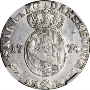 1774 Norge 24 Skilling NGC MS63