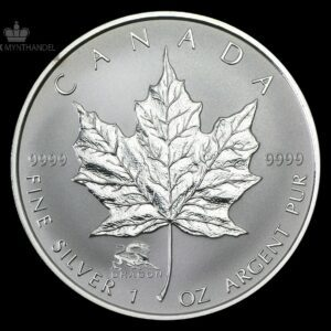 2000 Kanada 1 oz Sølv Maple Leaf Lunar Dragon Privy