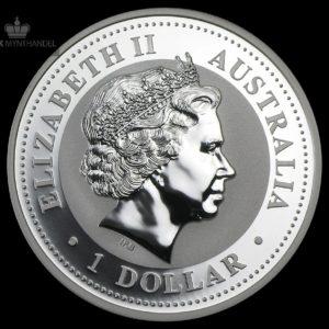 2001 Australia 1 oz Sølv Kookaburra BU