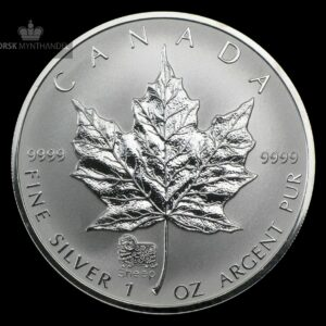 2003 Kanada 1 oz Sølv Maple Leaf Lunar Sheep Privy