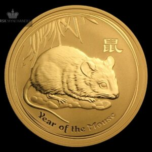 2008 Australia 1 oz Gullmynt Lunar Year of the Mouse BU