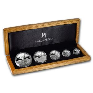 2008 Mexico 5-Mynt 1.9 oz Sølv Libertad Proof Set