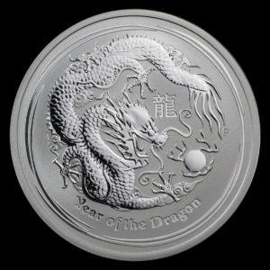 2012 Australia 1/2 oz Lunar Sølv Year of the Dragon BU