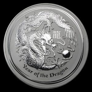2012 Australia 1 kilo Sølv Lunar Year of the Dragon BU