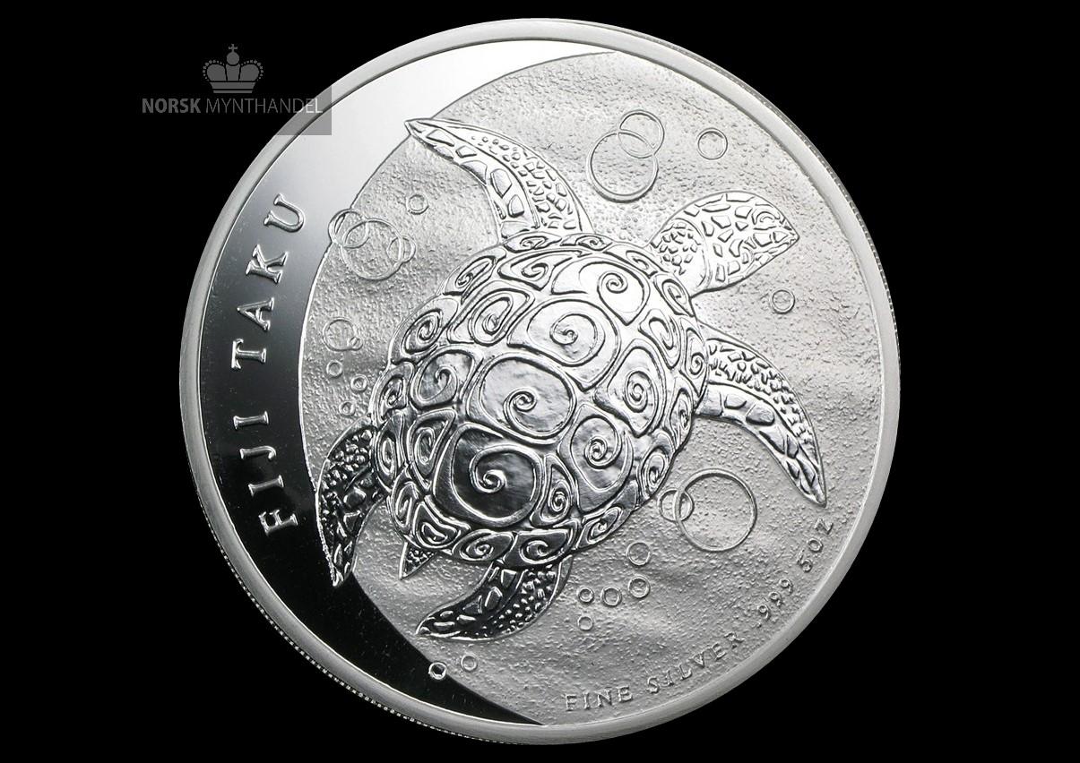 2013 Fiji 5 oz Sølvmynt Taku BU