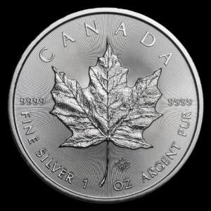 2014 Kanada 1 oz Sølv Maple Leaf BU i Tube
