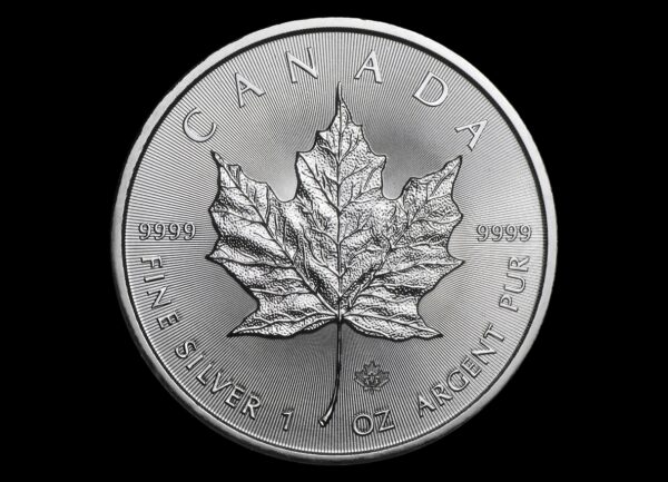 2014 Kanada 1 oz Sølv Maple Leaf BU i Tube