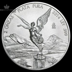 2014 Mexico 2 oz Silver Libertad BU