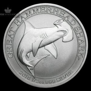 2015 Australia 0.5 oz Sølv Great Hammerhead Shark