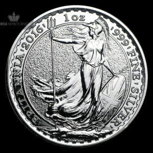2016 Storbritannia 1 oz Sølv Britannia