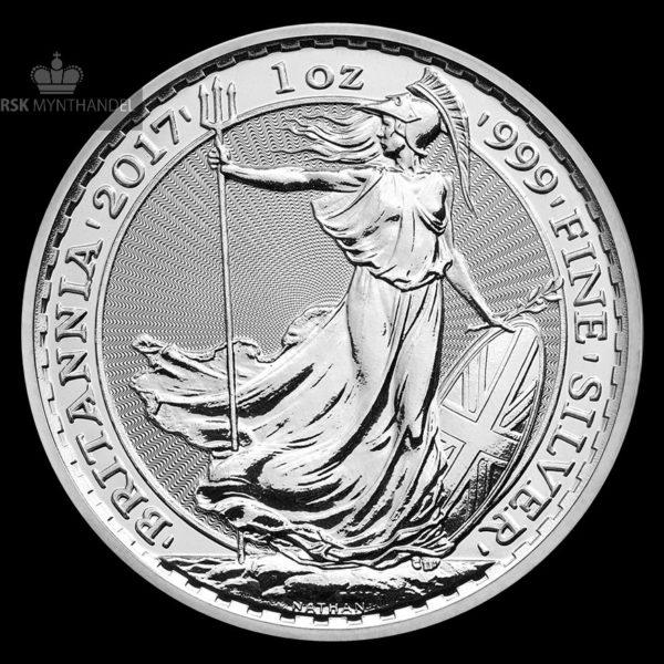 2017 Storbritannia 1 oz Sølv Britannia
