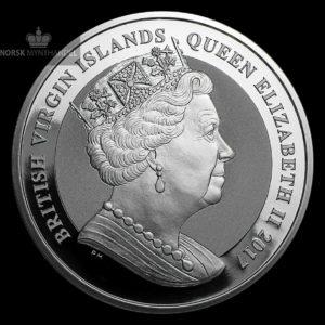 2017 De Britiske Jomfruøyer 1 oz Sølv Pegasus Revers Proof