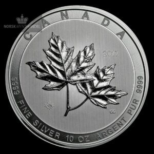 2017 Kanada 10 oz Sølvmynt Magnificent Maple Leaf BU